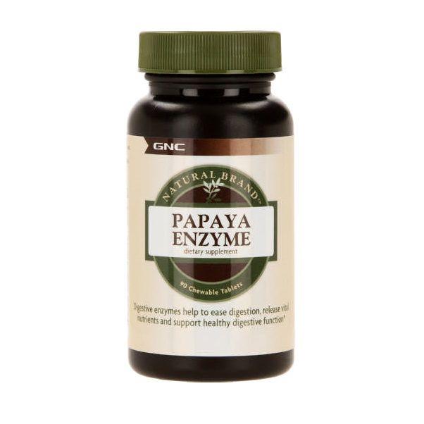 GNC Papaya Enzyme Папая Ензими х90 дъвчащи таблетки
