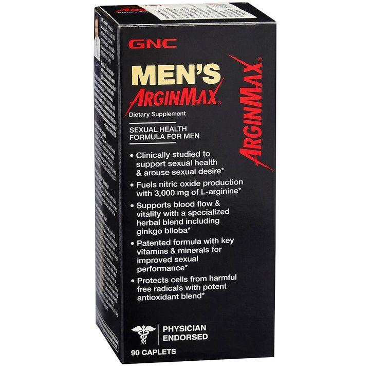 GNC Men's Arginmax Аргинмакс за мъже формула за сексуално здраве х90 каплети