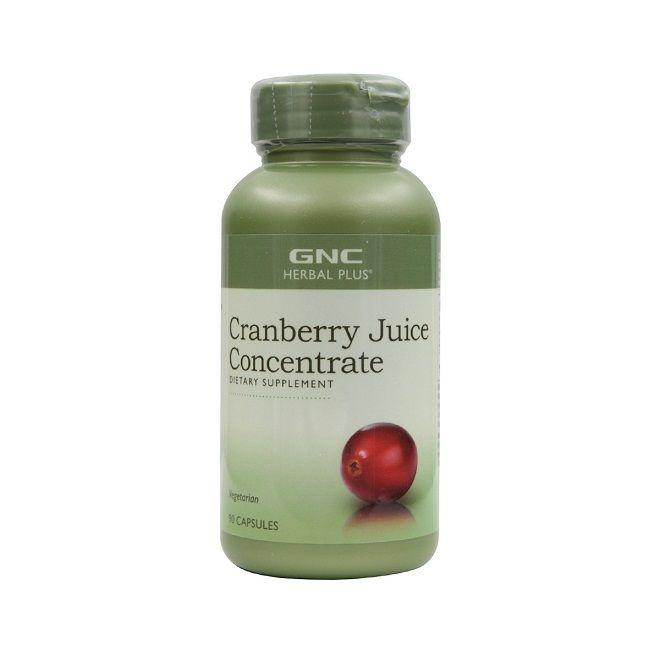 GNC Cranberry Juice Concentrate Червена боровинка 500 мг х90 капсули