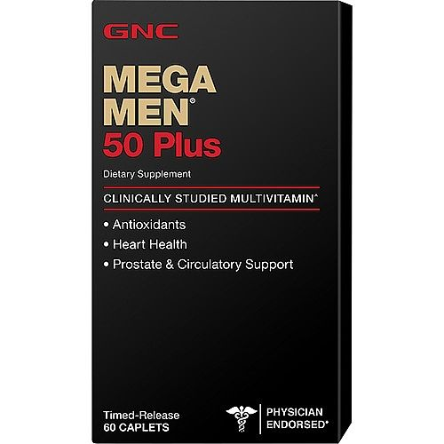 GNC Mega Men 50 Plus Мултивитамини за мъже над 50 години х60 каплети с удължено освобождаване