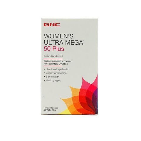 GNC Women's Ultra Mega 50 Plus Мултивитамини за жени над 50 години х60 таблетки с удължено освобождаване