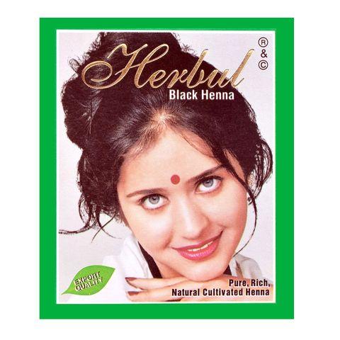 Herbul Индийска къна за коса, цвят Черен х1 брой