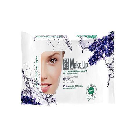 Nature of Agiva Успокояващи мокри кърпи против акне и проблемна кожа х20 броя