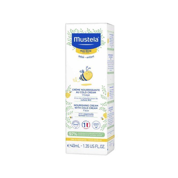 Mustela Подхранващ крем за лице с колд крем за бебета и деца за суха кожа x40 мл