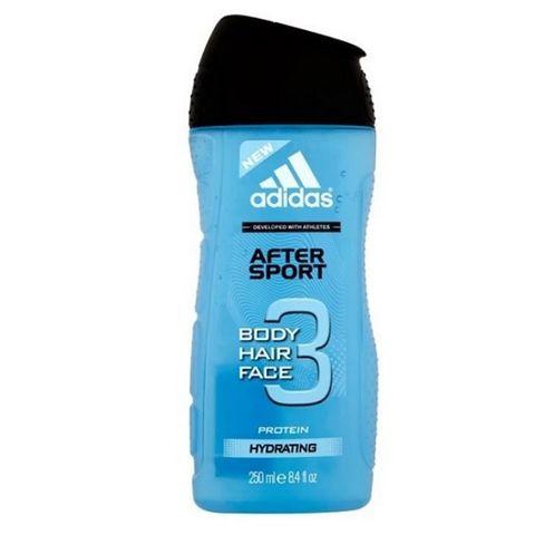 Adidas After Sport 3in1 Protein Мъжки душ гел за коса и тяло с протеин и цитрусов аромат х 250 мл
