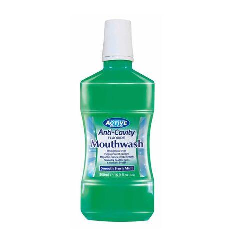 Beauty Formulas Active Вода за уста против кариеси с мента х500 мл