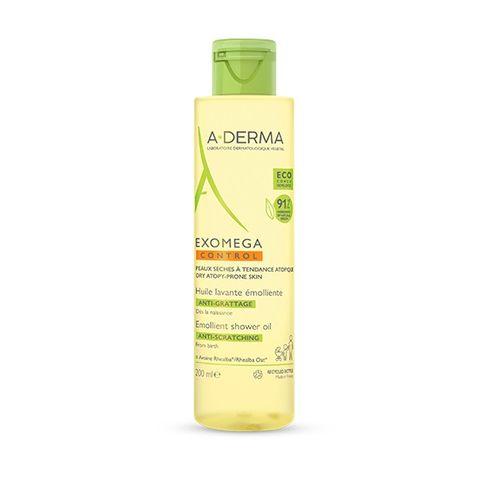 A-Derma Exomega Емолиентно почистващо олио за лице и тяло x200 мл