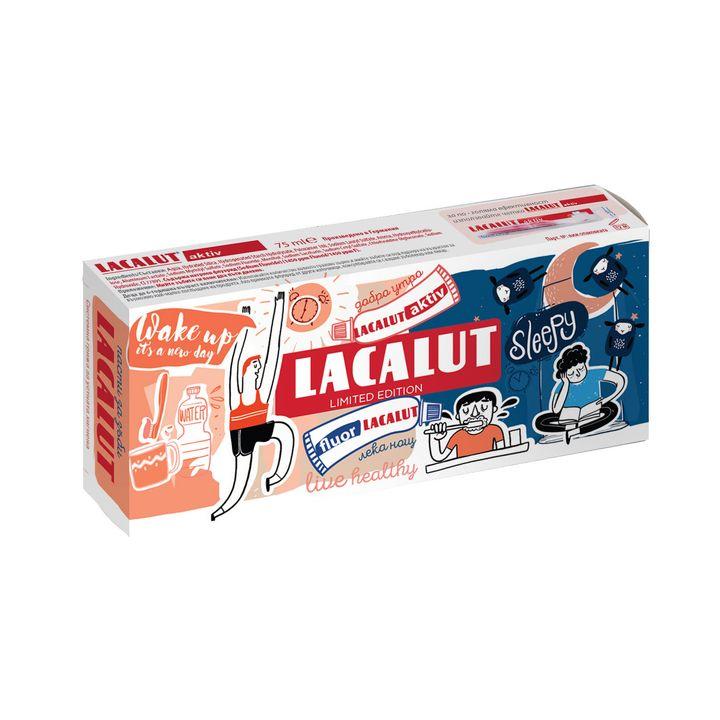 Lacalut Промо комплект Паста за зъби Актив и паста за зъби Флуор