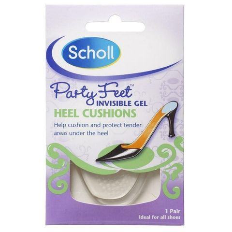 Scholl Party Feet Силиконови възглавнички за пети х1 чифт