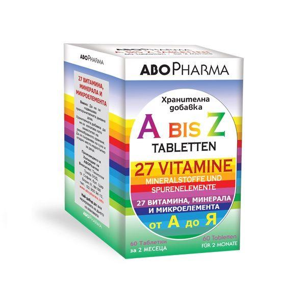 Витамини и Минерали от А до Я x60 таблетки Abopharma