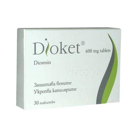 Диокет за здрави вени и капиляри 600 мг х30 таблетки