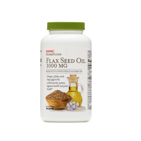 GNC Flax Oil Ленено масло 1000мг х180 капсули
