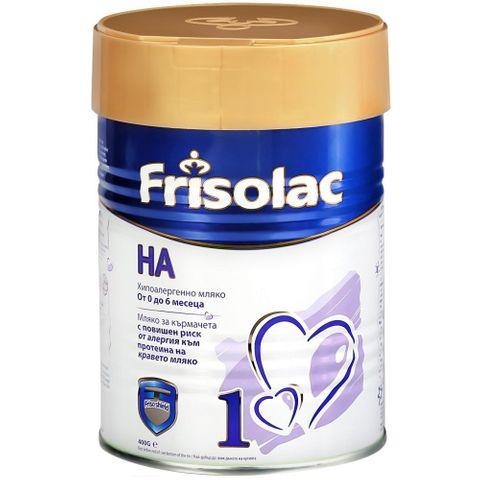 Frisolac HA1 Хипоалергенно мляко за кърмачета от 0 до 6 месечна възраст x400 грама