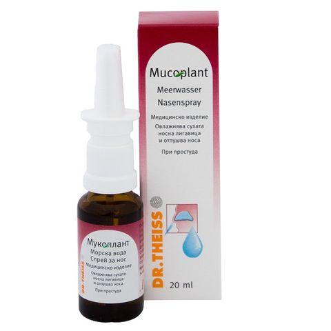Dr. Theiss Мукоплант спрей за нос с морска вода х20мл
