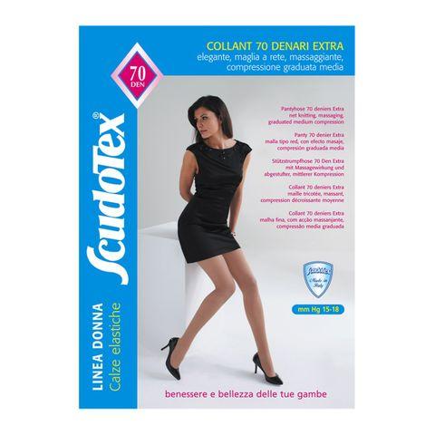 Scudotex Collant 70 Дамски еластичен чорапогащник със средна компресия, цвят Daino, размер XL х1 брой