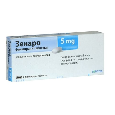 Zentiva Зенаро при алергии 5 мг х7 таблетки