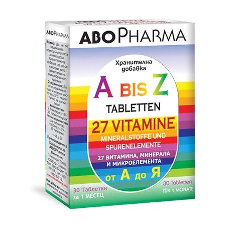 Витамини и минерали от А до Я x30 таблетки Abopharma