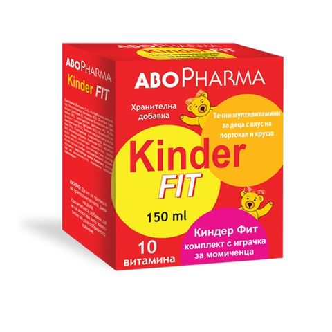 Киндер Фит Течни Мултивитамини за момичета х150 мл Abopharma