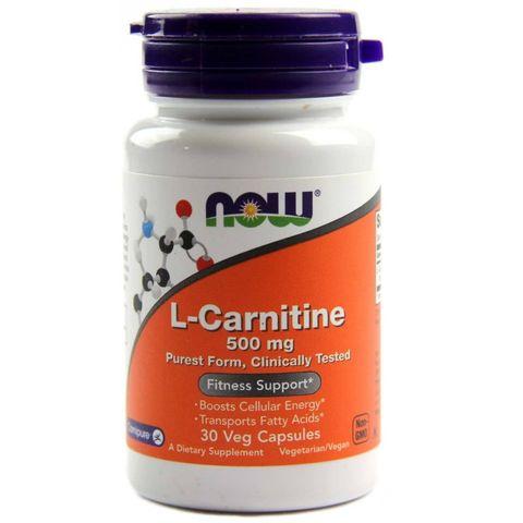 Now Foods L-Carnitine 500 мг х30 капсули