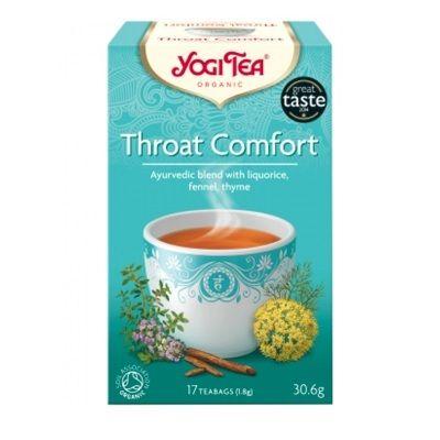 Yogi Tea Throat Comfort Био Аюрведичен чай за здраво гърло x17 пакетчета
