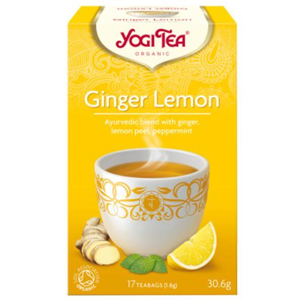 Yogi Tea Ginger Lemon Био Аюрведичен чай с лимон и джинджифил x17 пакетчета