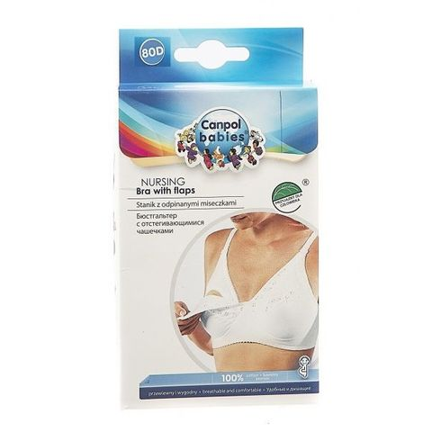 Canpol babies Сутиен за кърмене със свалящи се чашки - размер 80D