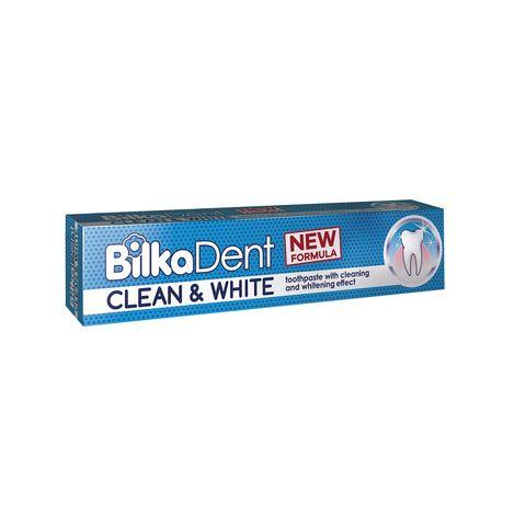 Bilka Dent Clean & White Паста за зъби с почистващо и избелващо действие х75 мл