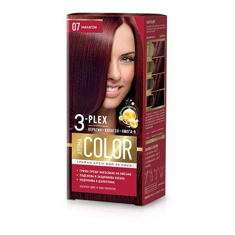 Aroma Color Дълготрайна крем-боя за коса, цвят 07 Махагон
