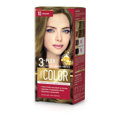 Aroma Color Дълготрайна крем-боя за коса, цвят 10 Лешник