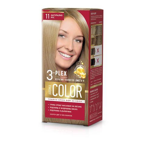 Aroma Color Дълготрайна крем-боя за коса, цвят 11 Натурално рус