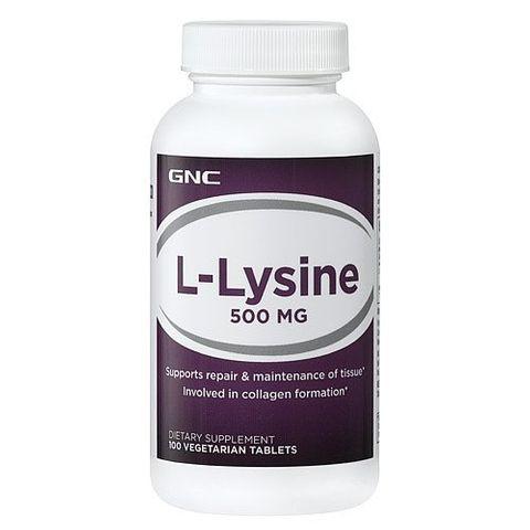 GNC Л-Лизин за поддържане на азотния баланс 500мг х100 таблетки
