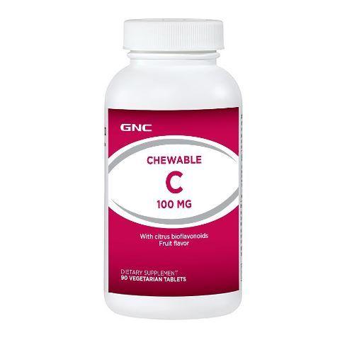 GNC Витамин Ц 100мг х90 дъвчащи таблетки