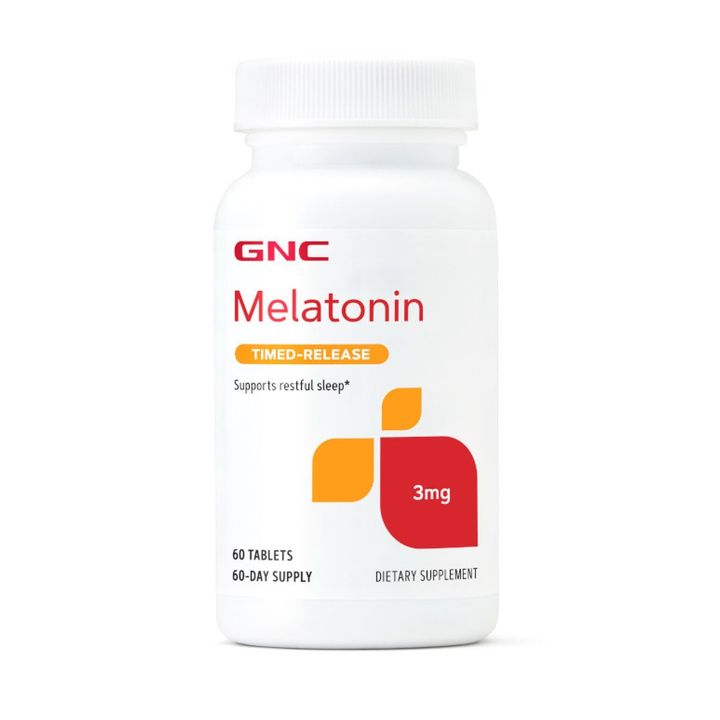 GNC Мелатонин при безсъние 3мг х60 таблетки с удължено освобождаване