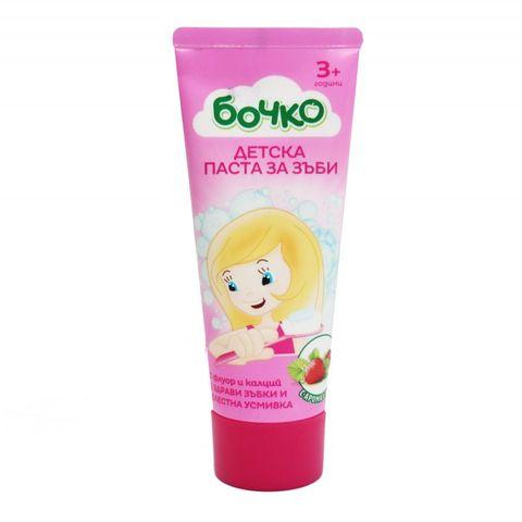 Бочко Детска паста за зъби с аромат на ягода х75 мл