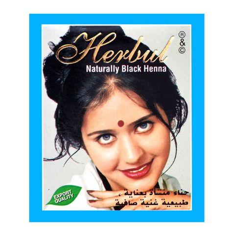 Herbul Индийска къна за коса, цвят Натурално черна х1 брой