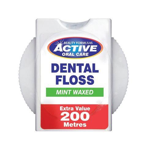 Beauty Formulas Dental Floss Mint Waxed Конец за зъби с вакса и флуорид х200 метра