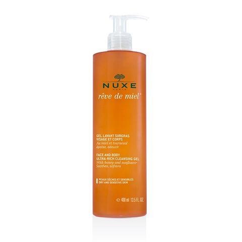 Nuxe Reve de Miel Богат измиващ гел за лице и тяло с мед за суха и чувствителна кожа x400 мл