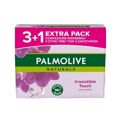 Palmolive Naturals Irresistible Touch Промо комплект Сапун с аромат на черна орхидея 4х90 грама