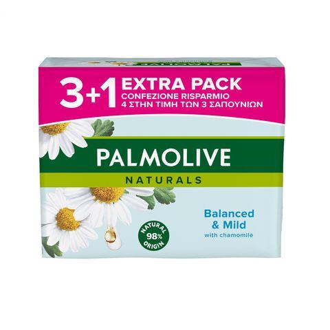 Palmolive Naturals Balanced&Mild Промо комплект Сапун с екстракт от лайка и витамин Е 4х90 грама