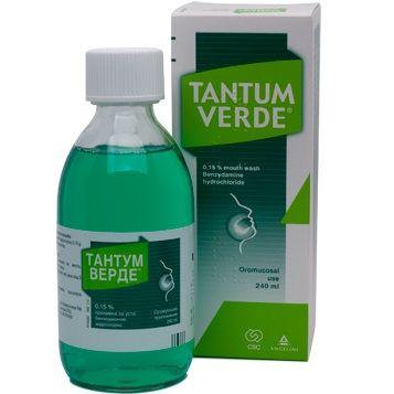 Тантум Верде Промивка за уста при възпалено гърло x240 мл