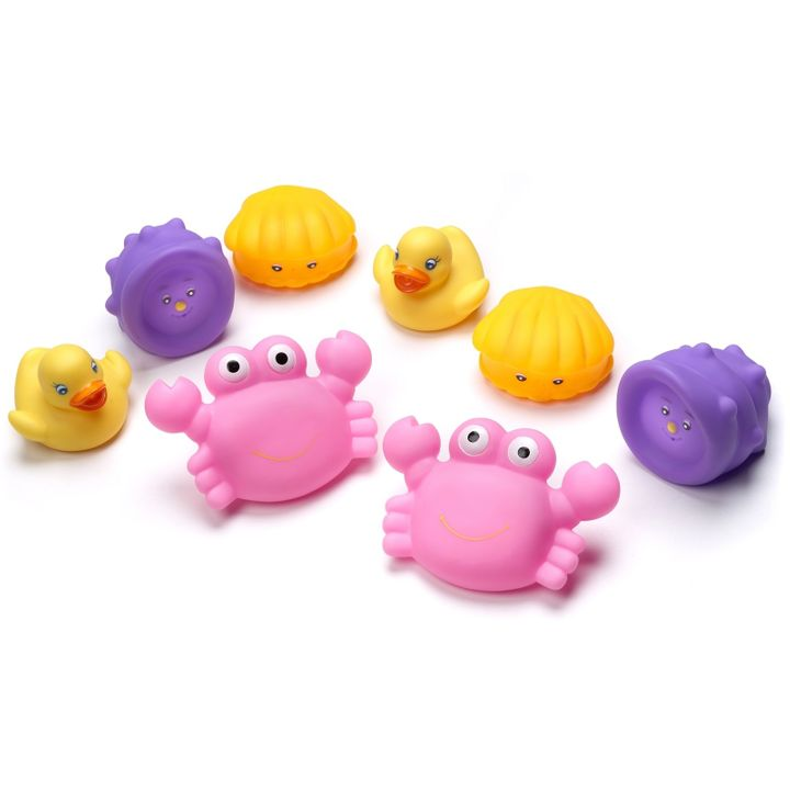 Playgro Животни за баня x8 броя за деца над 6 месеца - 0503