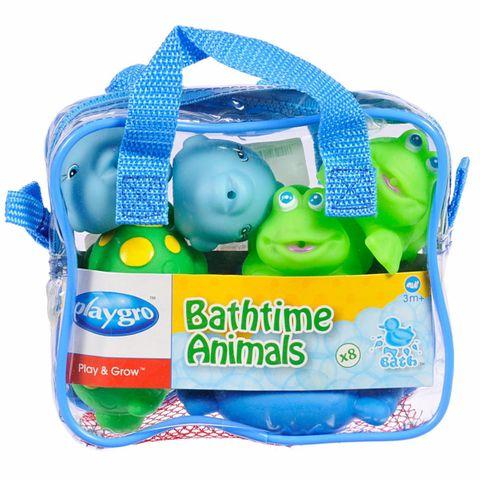 Playgro Животни за баня x8 броя за деца над 6 месеца - 0502