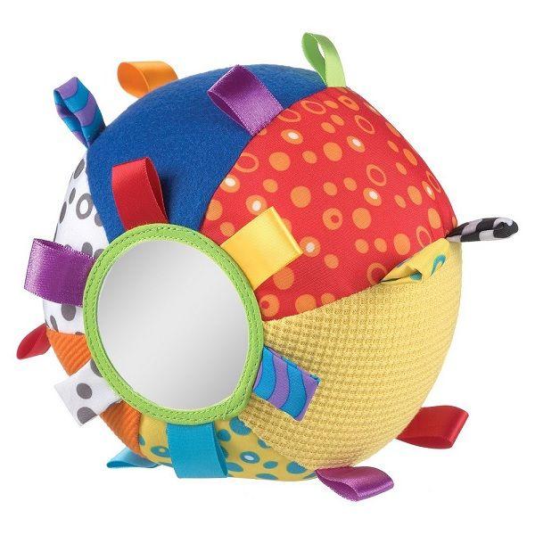 Playgro Звъняща мека топка с етикети за деца над 3 месеца - 0110
