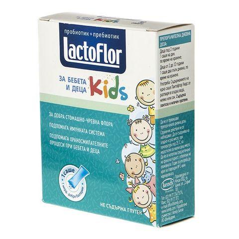 Лактофлор Кидс Пробиотик за бебета и деца за здрава стомашно-чревна флора и висок имунитет х10 сашета