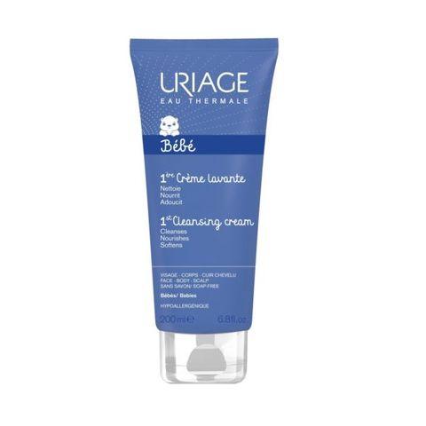 Uriage Bebe Нежен пенлив душ-крем за деца и бебета за лице, тяло и коса x200 мл