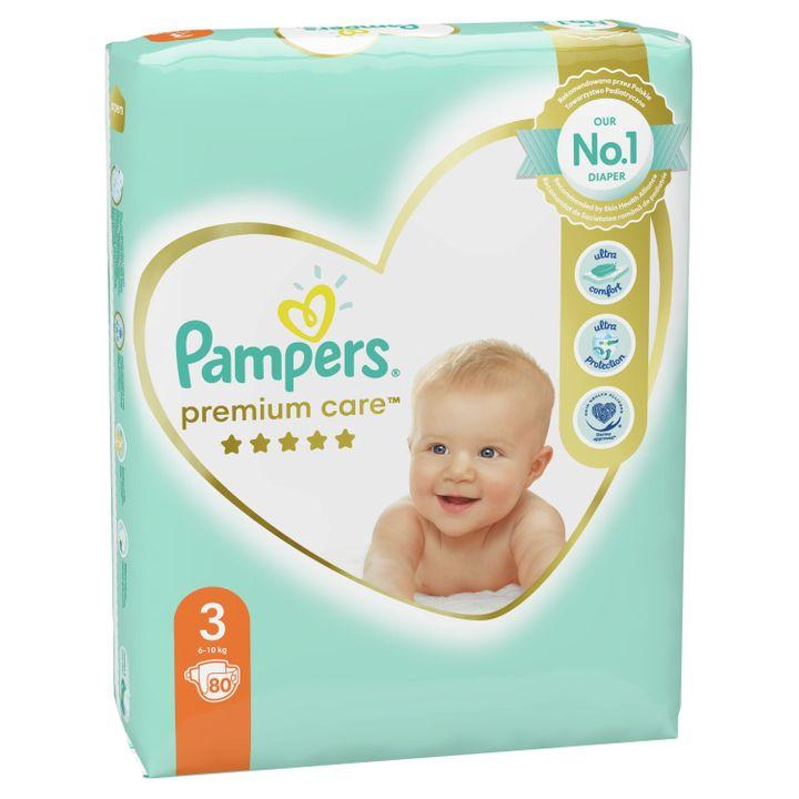 Pampers Premium Care 3 Бебешки пелени 6-10 кг х80 броя