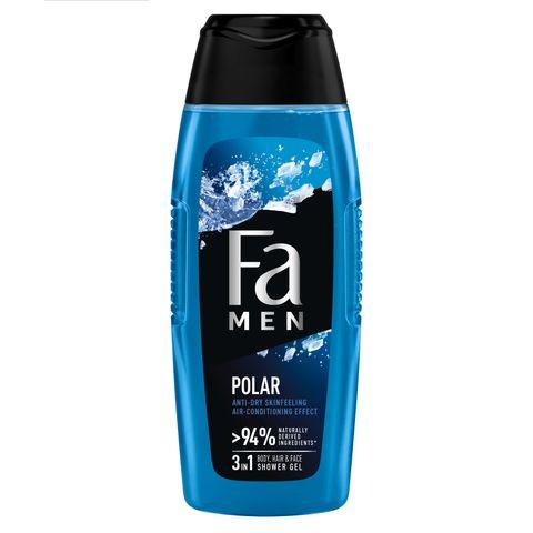 Fa Men Polar Душ гел за коса, тяло и лице с аромат на евкалип и дървесни нотки х400 мл