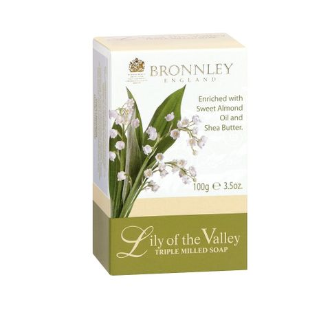 Bronnley Lily of the Valley Луксозен сапун с аромат на момина сълза x100 грама