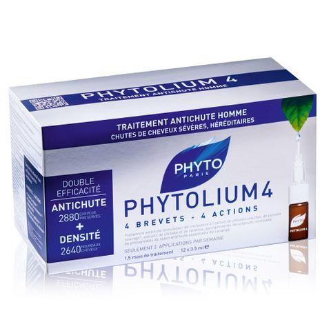 Phyto Phytolium 4 Серум за мъже за лечение на хроничен косопад 12 ампули x3.5 мл