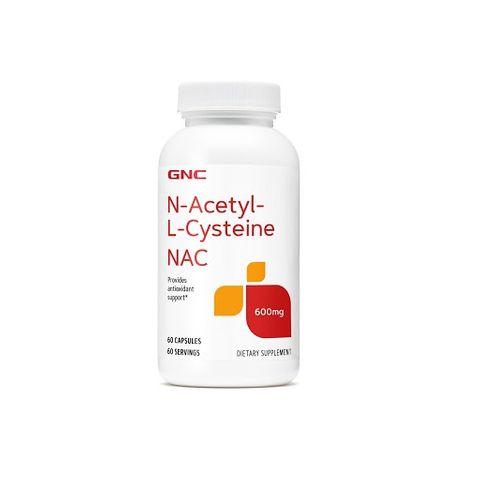 GNC NAC N-Acetyl-L-Cysteine 600мг х60 капсули